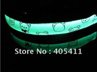 Wholesale Fluorescence nylon webbing pet collar LED pet safety collars