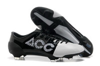 Wholesale 2013 New Style Mens GS Soccer Shoes Pu Leather Football Boots Outdoor Soccer Cleats White Black