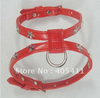 Wholesale red star Necklace collars for dog cat puppy harnesses collars dog PU leather collar fo