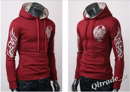 Wholesale Qltrade_2 European men tattoo csol guard Hoody assassin tattoo tide clothes