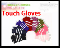 apple ipad screen size - Unisex Magic five Fingers Touch Screen Stripe Gloves for iPhone GS S PlUS iPad Samsung S5 S4 MINI Note HTC Tablet PC One Size