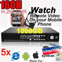 Wholesale 5Sets CH H CCTV Standalone Surveillance DVR GB HDD Digital Video Recorder AT DVR8516H TD