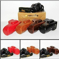 Wholesale New Arrival Leather Camera Bag Case Cover For Nikon D3200