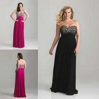 plus size evening dresses - Plus Size Modern Sweetheart Black Empire Crystals Evening Dress Prom Party Formal Dresses Gown