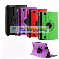 Wholesale 360 Degree Rotatable Protective Leather Case Cover for Amazon Kindle Fire HD7 Ebook Reader Tablet PC
