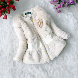 Wholesale New Winter Girls Baby Fur Coats Leopard Inside Long Sleeve Children Coat Kids Winter Coats colors