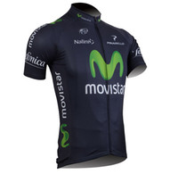 Wholesale cycling shorts movistar short Sleeve cycling clothing Shirts clothing bike jersey