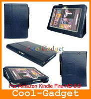 Wholesale Folio Stand Leather Case Back Cover for Amazon Kindle Fire HD AKFD89C01