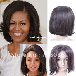 Wholesale lace front wig human hair wigs indian hair fashion style straight DHL fast shipping days