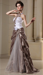Wholesale The Newest Evening Dresses Applique bead Taffeta Fold Quinceanera Dresses