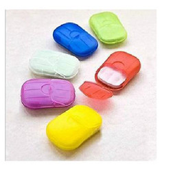 Wholesale Hot Sale Washing Hand Bath Travel Scented Slice Sheets Foaming Box Paper Soap New