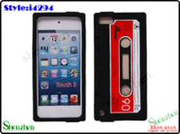 Wholesale For ipod touch Tape Cassette Soft Silicone Rubber Case Cover iGDS i4294