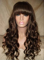 Wholesale Gorgeous Swiss full lace Brazilian virgin remy body wave human hair wigs