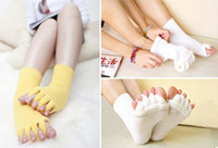 Wholesale 500pairs Comfy Toes Sleeping Socks Massage Five Toe Socks Happy Feet Foot Alignment Socks hot