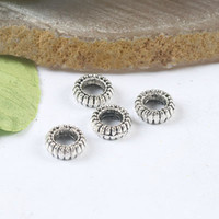 Wholesale 120pcs Tibetan silver crafted tyre spacer beads H0199