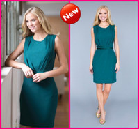 Wholesale Chiffon Short Teal Sash Party Dresses Custom Made New Arrival Sexy Cocktail Bridesmaid Gowns Simple Cheap Under