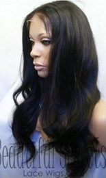 Wholesale Beauty Natural Black Malaysia Silky Straight Indian Remy Human Hair Lace Wig Front Lace Wig Ba