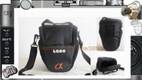 Wholesale Triangle Camera Bag Case Pouch Protector Waist Bag for SONY A100 A200 KIT for canon nikon DSLR