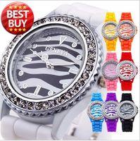 Wholesale Stylish Silicone Band Watches Bracelets Jelly Wrist Watches Geneva Watches For Women Men SB