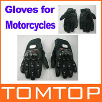 Wholesale Motorcycle Racing Gloves Sports Leather Motorbike Bike bicycle cycling full finger Protective Racing Gloves Size L XL H8638