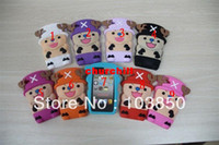 Wholesale 3D One Piece Tony Chopper Silicone Soft Back Case for iPhone4 S