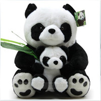 Wholesale Lovely mother baby set panda doll plush toys panda Children s toys baby toys pc set