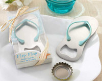 Wholesale Wedding Gift Wedding Favor Flip Flop Sandal Bottle Opener Slipper Wine Opener In Gift box Beer Bottl