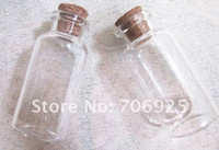 Carved antique vials - Clear Glass Wishing Bottles Vials With Cork x75x12 mm pieces