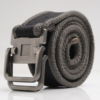 red/black/brown/white canvas belts - 122602 Canvas Belt casual belt Men s belt pants strap belt with double ring buckle