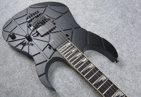 Wholesale RG Engraved Carved Electric Guitar Black Satin Finish and Retail OEM Acceptted