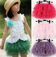 Wholesale Girls tutu skirt Layers Summer Baby Dresswear Satin Waist dance party dressup costume birthday