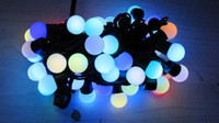 Wholesale 50 balls per LED ball string RGB bulbs Christmas M Xmas Day fast