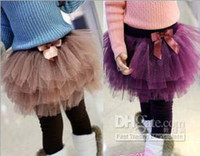 baby velvet yarn - 2013 Hot baby leggings Girl s Six layer yarn thicken velvet bootcut TUTU pantskirt girl s clothing