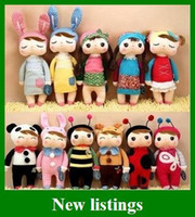 bee movie toys - hot sales METOO Plush Toys Rabbit Bee Angela doll children Gifts bag cm styles Y30