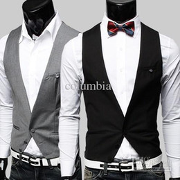 Wholesale 2012 New Hot Fashion Men s Vest Men s V neck Slim Casual Vest