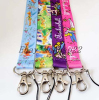 Wholesale cartoon Pretty Tinkerbell Cell PHONE LANYARD KEYS ID NECK STRAPS