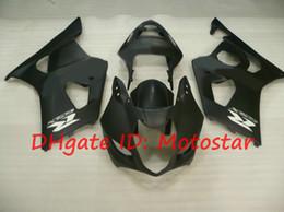 flat matte black fairings for 2003 2004 SUZUKI fairings kits GSX-R1000 03 04 GSXR 1000 K3 GSXR1000 GSXR 1000 S13L