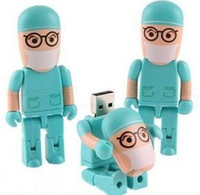 Wholesale surgeon doctor shape real gb gb gb gb gb usb flash drives pen drive usb stick thumb drive full capacity usb