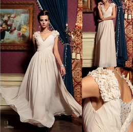 Wholesale 2013 elegant prom dresses Evening Dresses noble chiffon flowers V neck sequin beaded floor length