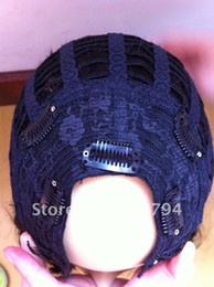 Wholesale U part peruvian hair full machine made wig in two tone