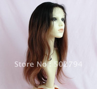 Wholesale Slight wave Brazilian hair full lace wig Two tone color Sunnygrace