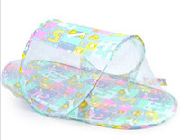 baby playpen - Baby Mosquito Net Fold Safty Mosquito Net Boat Style Playpen Shade Travel Tent Bed twill Mosquito