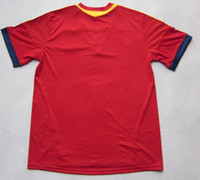 Wholesale Thai Quality Spain National Team Home Soccer Jerseys Football Jersey Tops