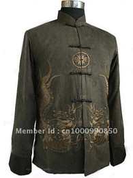 Wholesale Traditional Men s Kung Fu dragon clothing jacket coat Vest S M L XL XXL XL AAAAAAAA
