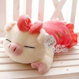Wholesale three cis pig plush toy doll pig cushion pillow stuffed plush pig toy best xmas gift
