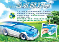Wholesale Hot Sale Green Energy Toys Salt Water Fuel Cell Car DIY Kits Toy novel energy environment car