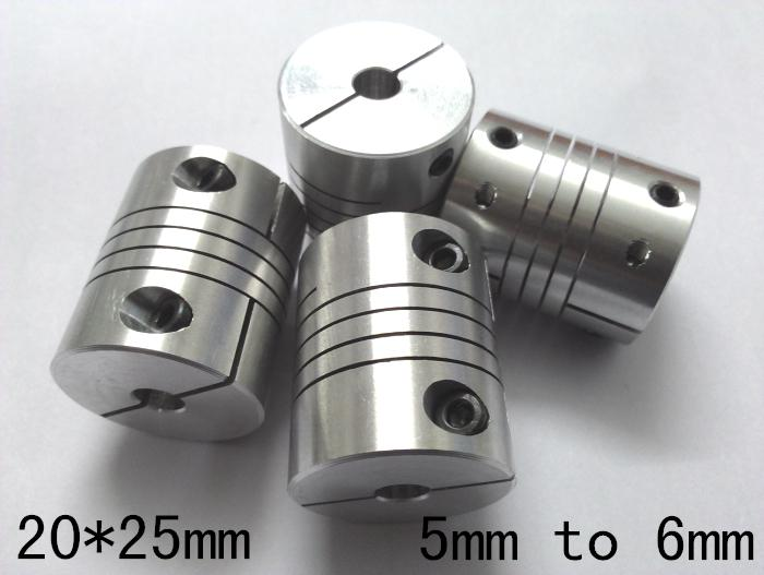 Cnc Motor Jaw Chain Coupling 5mm To 6mm Flexible Coupler