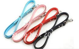 Wholesale DIY Dog leads croc texture with mm slide bar on matching Personalized DIY pet collar can pick colors