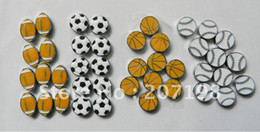 Wholesale 8mm Basketball football baseball rugby slide charm sliders you can choose or mix
