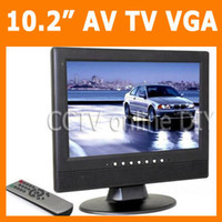 Wholesale 10 inch TFT LCD Screen VGA AV input Monitor with Analog TV CH Video input Ch Audio input